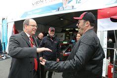 #ParisePrix, Prince Albert de Monaco visit. Here with Gildo Pastor Venturi's owner. VenturiGP