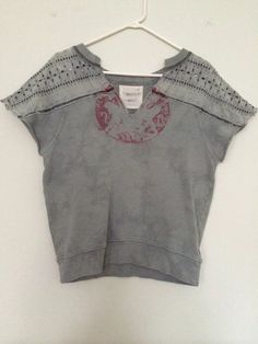 Free People We the Free Sage Green Graphic Knit Sweatshirt Top Size Extra Small #FreePeople #KnitTop #Casual