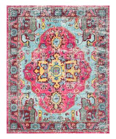 This Blue & Pink Simone Rug is perfect! #zulilyfinds