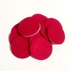 "1.5"" red ADHESIVE felt circles / 10-25 pieces"
