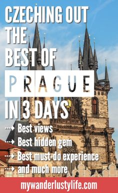 Czeching Out the Best of Prague in 3 Days | Czech Republic | beer, churches, Prague Castle, Beer spa, Monastery, where to eat, where to drink, where to stay, best views