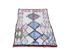 75X51 Moroccan rug handwoven from scraps of by MoroccanTribal