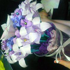 My friends beautiful hand made oragami flowers @Aria Burridge