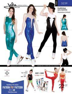 74c4cf3c5c Jalie 3239 - Long Sleeveless Unitard PDF Pattern Costume Patterns