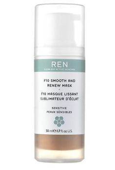 Ren F10 Smooth and Renew Mask (1.7oz) by REN. $26.35. Skin looks smoother, brighter with a healthier and more even skin tone. Gently exfoliates and renews the complexion. How to Use : Apply a generous amount to clean skin. Leave for 10 minutes. Dampen enclosed cloth and gently wipe off mask. Rinse skin with warm water.. ingredients : Citrus Aurantium Bergamia (Bergamot) Leaf Extract, Glycerin, Polysorbate 60, Lecithin, Rosa Canina Fruit Oil, Ribes Nigrum (Blac...