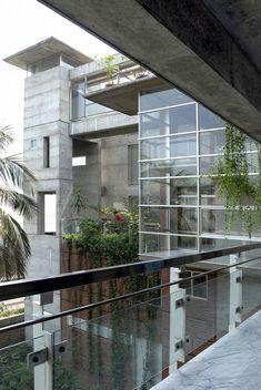 Dhaka-based studio Shatotto Architects designed the Meghna Residence, Dhanmondi, Dhaka city, Bangladesh.