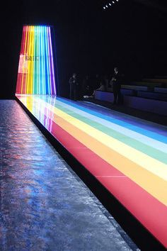 rainbow catwalk #fashion