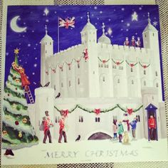 Tower of London Christmas card.