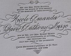 Letterpress Wedding Invitation sample Wedding by SmallPrinter