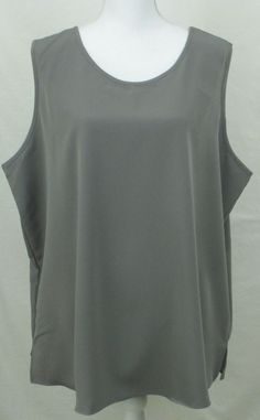 Womens Shirt Top Size 2X #Plus Tank Maggie Sweet Gray Cami Paisley Scroll  #MaggieSweet #TankCami #ebay