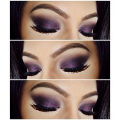 """✨ Dark purple smokey eye - used @urbandecaycosmetics Vice 2 Palette and @thekatvond Poetica Palette"""