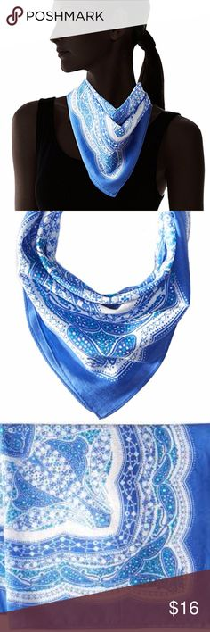 Echo Women's Cambon Bandana Cotton Scarf Blue You will receive the exact item as pictured, please look closely at pictures. First 3 photos are stock photos.  Brand new. Tags attached.  100% Cotton Imported Hand Wash Endless versatility and ways to wear Add a touch of color to your neck, wrist or handbag Iconic paisley but with a design twist Product dimensions: 21 x 21 Echo Accessories Scarves & Wraps