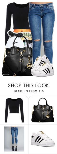 """12.16.15"" by jadeessxo ❤ liked on Polyvore featuring MICHAEL Michael Kors, Wet Seal and adidas"