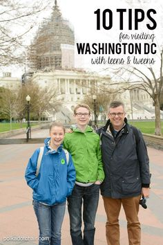 10 Tips for Traveling to Washington DC. Family vacation ideas.