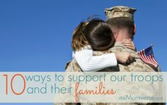 10 ways to support our troops and their families | The Momiverse | Resources for #military families, service members, Army, Air Force, Navy, Marines, Coast Guard | Image by SalFalko on Flikr