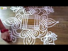 geethala muggulu 30 | rangoli | sankranthi muggulu |kolam | kolam | padi kolam | rangoli desings - YouTube Rangoli Borders, Rangoli Border Designs, Rangoli Designs Diwali, Kolam Rangoli, Flower Rangoli, Free Hand Rangoli Design, Small Rangoli Design, Rangoli Designs With Dots, Beautiful Rangoli Designs