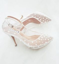 Beautiful Pearl Wedding Shoes