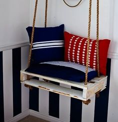 Recycling #recycled #pallet #swing #stripes