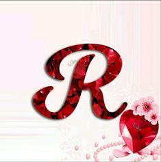 R Letter Design, Alphabet Letters Design, Hand Lettering Alphabet, Letter Art, Alphabet Wallpaper, Name Wallpaper, Vintage Lettering, Lettering Design, Letter R Tattoo