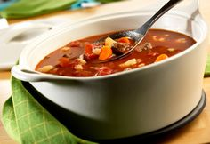I mix up the veg, but this is a quick go-to veg beef soup. I swap kidney beans for the potatoes.
