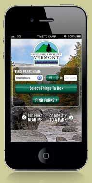 Find a Vermont State Park (by amenities)