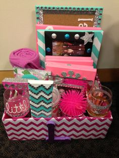 Big little reveal basket