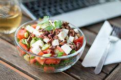 Recette de salade de melon d'eau, kale et feta selon Alexis Brault