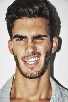 hairstyle + beard