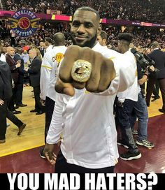Bron: NBA fans are here for LeBron James and his first championship ring with the Cavs Lebron James Family, Nba Lebron James, King Lebron James, King James, Lebron James Rings, Lebron James Championship, Nba Players, Basketball Players, Rockets Basketball