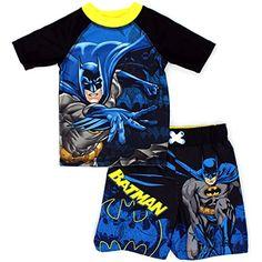 Batman Toddler Boys Rash Guard and Trunks Swimwear Set - jadayoungan - Baby Toddler Boy Outfits, Toddler Boys, Kids Outfits, Baby Boys, Kids Spiderman Costume, Superman, Trunks Swimwear, Baby Swimwear, Batman Outfits