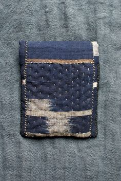 small pouch/purse/wallet in midnight kasuri indigo by lesamovar