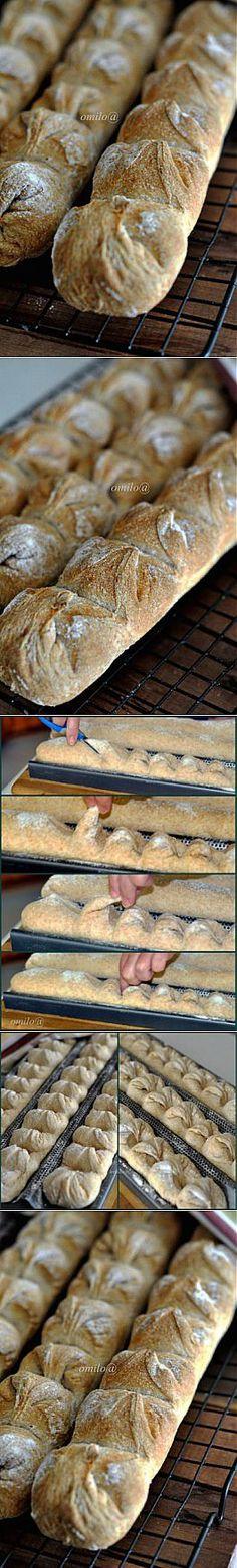 Багеты на опаре (П. Рейнхадльд) Формовка «Хвост дракона» : Хлеб, батоны, багеты, чиабатта | Булочки | Постила
