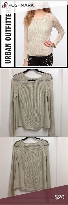 UO Silence & Noise Placed Mesh Pullover Perfect used condition no flaws no stains obviously lots of holes LOL!! It's oversized a little bit sizes medium brand is silence and noise from urban outfitters Urban Outfitters Sweaters