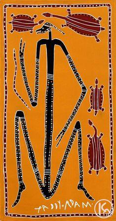 """Dancing Mimi with Long Neck Turtles"" by Paddy Fordham Wainburranga 58cm x 110cm $4,000 http://www.aboriginalartstore.com.au/artists/paddy-fordham-wainburranga/dancing-mimi-with-long-neck-turtles/"