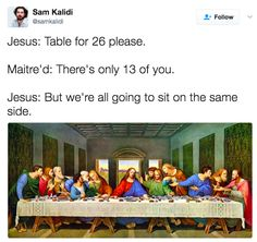 Jesus saves; we lol.