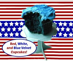 Mystery Lovers' Kitchen: Red, White, and BLUE VELVET CUPCAKES for July Fourth from Cleo Coyle