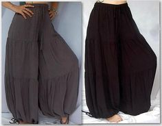 @S658 PANT HAREM TIERS HIPPIE BOHO ATTRACTIVE UNIQUE MISSES/PLUS MADE TO ORDER #LOTUSTRADERS #CasualPants