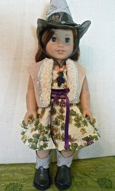 RHINESTONE COWGIRL  American Girl Doll goes Country Western by RhinestonestoRubies, $40.00