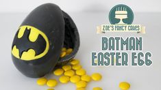 How to make a chocolate Batman Easter egg surprise with Reese's pieces inside (m&ms or smarties will work too!)I use colour melts to make my egg but you can ...