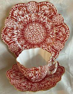 Tea Cup Set, Tea Cup Saucer, Cup And Saucer Set, Porcelain Ceramics, China Porcelain, Art Nouveau, English Teapots, Tea Sets Vintage, Antique Shops