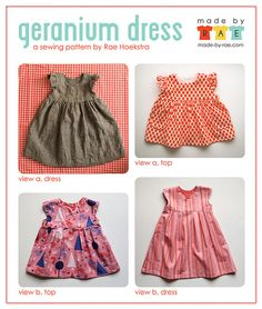 Geranium Dress Views by madebyrae, via Flickr in Catnap for Bailey's birthday