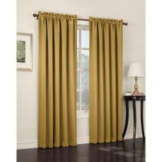 Sun Zero, Gold Gregory Room Darkening Pole Top Curtain Panel, 54 in. W x 63 in. L, 43560 at The Home Depot - Mobile