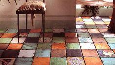 rustikale Bodenfliesen in Erdfarben von Eco Ceramica