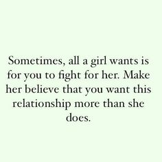 fight for the girl you want.