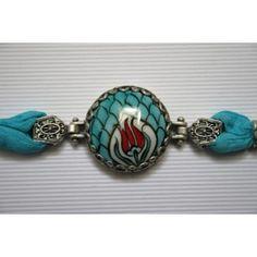 Turkish Hand Painted Iznik Ceramic Bracelet