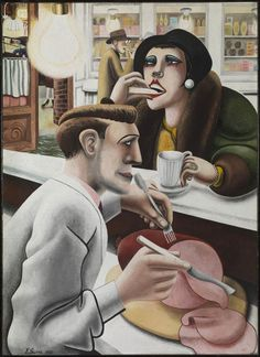 Edward Burra, The Snack Bar 1930, Tate Collection