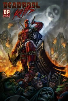 #Deadpool #Fan #Art. (Deadpool Kills) By: PTimm. AWESOMENESS!! [THANK U 4 PINNING!!]
