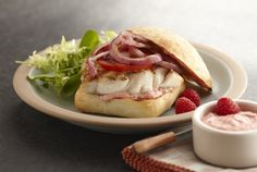 Driscoll's Rock Cod Sandwich with Raspberry-Chipotle Mayonnaise www.driscolls.com