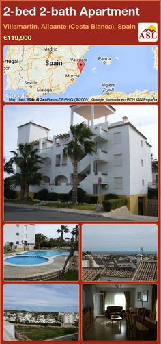 Apartment for Sale in Villamartin, Alicante (Costa Blanca), Spain with 2 bedrooms, 2 bathrooms - A Spanish Life Apartments For Sale, Murcia, Alicante, Valencia, Radiator Heater, Fitted Wardrobes, Cupboard Storage, Reception Areas, Palmas