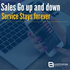 """Sales Go up and down  Service Stays forever."" #Sales #Service #BusinessQuotes"